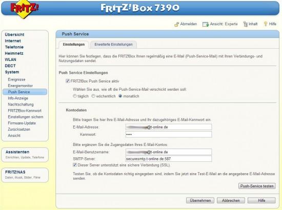 Fritzbox-porteinstellung-Emailversand