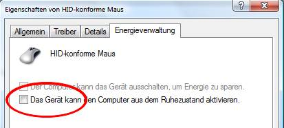 Vista Gerätemanager Energieoptionen